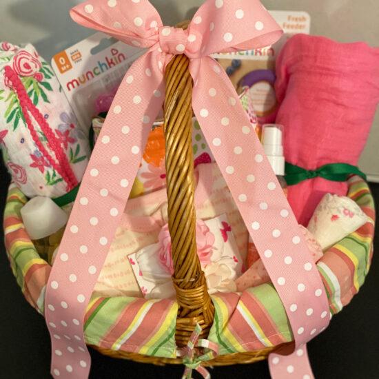 Baby Girl Welcome Gift Basket